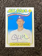 2013 Topps Archives Retail Chase Clayton Kershaw 1993 All Star Auto 1/10 1/1