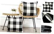 Pack Of 2 Farmhouse Decor Christmas 2 Pieces 18and039and039x18and039and039 Plaids Black+white