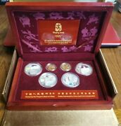 2008 Beijing Olympic Commemorative Gold And Silver Series 6 Coin Set Box And Coa