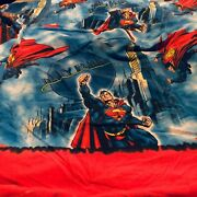 Vintage Dc Comics Superman Twin Flat And Fitted Sheets Set