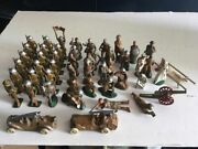 1930's Barclay Manoil Ww1 Toy Military Soldiers Collection With Tents