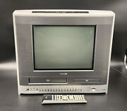 Nice Toshiba Mw14f51 14 Crt Flat Screen Tv Dvd Vcr Gaming With Remote Tested