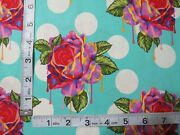 Curiouser And Curiouser By Tula Pink- Painted Roses In Wonder - 1 Yard Cut