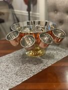 Absolut Elyx Copper Punch Bowl With Copper Mugs
