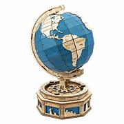 3d Wooden Puzzle Globe Model-self Assembled Tellurion Building Toys Oversized