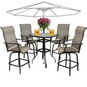 All-weather Outdoor Patio Furniture Height Dinning Bistro Bar Chair Table Set