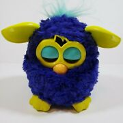 Furby Boom Dark Blue With Yellow Ears And Feet Teal Hair Tested