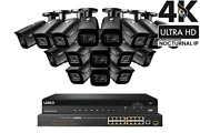 Lorex 32-channel Nocturnal Nvr System With Sixteen 4k 8mp Ip Cameras Audio
