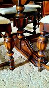 Antique Dining Room Set Berkey And Gay Dining Table W/6 Chairs Sideboard + Server