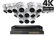 Lorex 32-ch Nocturnal Nvr System With Sixteen 4k 8mp Ip Dome Camera And Audio