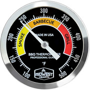 Midwest Hearth Bbq Smoker Thermometer For Barbecue Grill Pit Barrel 3 Dial 4