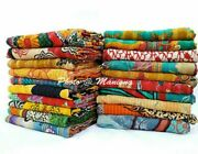 5 Pc Wholesale Lot Kantha Quilt Bedspreads Throw Vintage Indian Blanket Twin