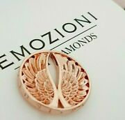 Emozioni Hot Diamonds Rose Gold Plated Guardian Angel Wings 25mm Coin