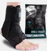 Zenith Ankle Brace Lace Up Adjustable Support Basketball Running Injury