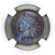 1900 Ms64 Bn Ngc Indian Head Penny Premium Quality Monster Toning