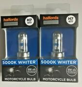 2 X Halfords H7 477 Advanced 5000k Motorcycle Headlight Bulband039s