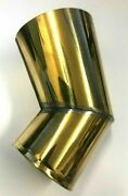 Gramophone Phonograph 78 Rpm Brass Elbow Part Fits Horn To Bracket