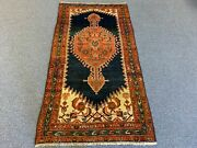 Malayer / Hamedan Antique Oriental Small Scatter Rug 3.2 X 6.0