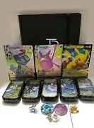 Pokemon Tcg Shining Fates Master Set Complete W/ Promos Pins Coins Charizard