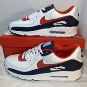 Nike Air Max 90 Se 4th Of July Pack Shoes Dj5170 White Chile Red Navy Blue Sz 13