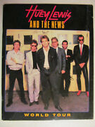Huey Lewis And The News Fore Lp Cd Era 1986 World Tourbook Program Collectible