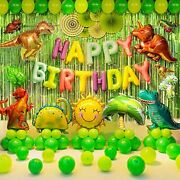 97 Pcs Dinosaur Birthday Party Supplies For Kids Birthday Party Dinosaur Theme