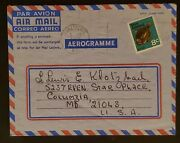 1971 Auckland New Zealand To Columbia Maryland Aerogram Airmail Letter Cover