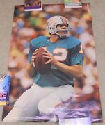 Vintage 1973 Sports Illustrated 7a12 Miami Dolphins Bob Griese Error Poster