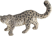 Wild Animal Kingdom Figure Snow Panther Leopard Big Cat Hand-painted Texture