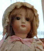 14-inch French Fasion Doll Repro W/hh Wig In Antique Ensemble 9