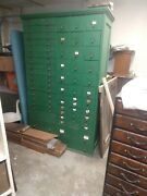 Antique Hardware Store Parts Cabinet Apothecary