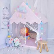 Kids Teepee Indoor Play Tent With Padded Mat - Children Outdoor Play House -