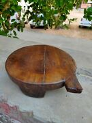 Antique Rare Wooden Chapati Rolling Plate Hand Carved Chopping Board Kitchenware