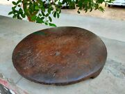 Old Rare Wooden Kitchenware Chapati Rolling Plate Antique Cookies Rolling Plate