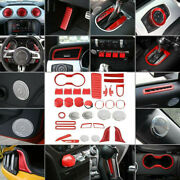 36p Red Full Set Car Interior Accessories Decor Trim For Ford Mustang 2015-2021