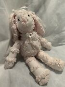 Stuffed Bunny Made From Antique Chenille Bedspread