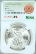 1982 Mexico Silver Libertad 1 Onza Ngc Ms 65 Great Luster Gem Bu First Year