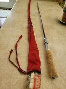 Vintage South Bend Telescopic Fishing Rod With Labeled Sleeve Sock Exc