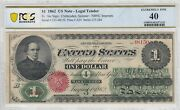 1 1862 United States Note Washington Legal Tender Pcgs Ef 40 Witter Coin