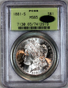 1881-s Ms65 Pcgs Cac Morgan Silver Dollar Premium Quality And Eye Appeal