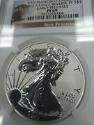 2012 S Pf69 Ultra Cameo Reverse Proof Silver Eagle Ngc Sf Trolley Car Free Ship