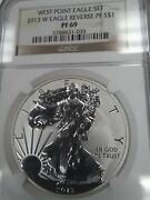 2013 W Pf69 Ultra Cameo Reverse Proof Silver Eagle Ngc Brown Label Free Ship