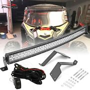 Fit 17-20 Can-am Maverick X3 Max 42and039and039 Curved Light Bar Upper Roof Bracket Kits