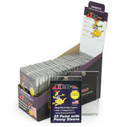 100 Promold Mh35s One Touch Magnetic Baseball Trading Card 35pt Sleeve Holders