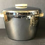 American Thermos Bottle Co. 1969 Chrome Insulated Ice Bucket, Bakelite Handles