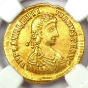 Ngc Ancient Times Western Roman Empire Ouarentian Iii Solidas Gold Coin Ch Xf
