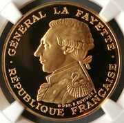 Gold Coin Top 4th In The World Marquis Of Lafayette 200th Anniversary Birth 1987