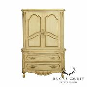 French Louis Xv Style Vintage Painted Armoire Cabinet By Unique