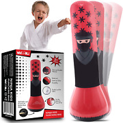 New Ninja Inflatable Toy Punching Bag For Kids Safe Karate Kid Air Pump Included