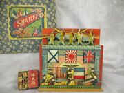 Military Rereo Antique War Shooting Picture Paper Game Army Meiji Taisho Japan